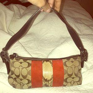 Coach Snakeskin Handbag